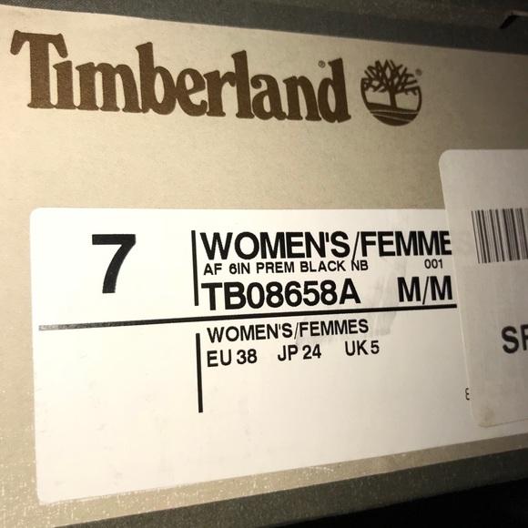Botas Timberland Negro De Las Mujeres El Tamaño De 7 4rfqUZswwQ